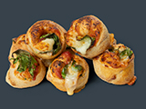 Spinach Dough Swirls image